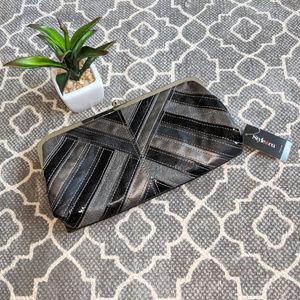 🆕 Style & Co Black Gray Silver Clutch